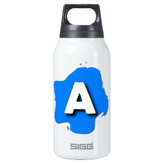 Letter A Insulated Water Bottle