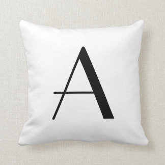 Letter A Monogram Pillows