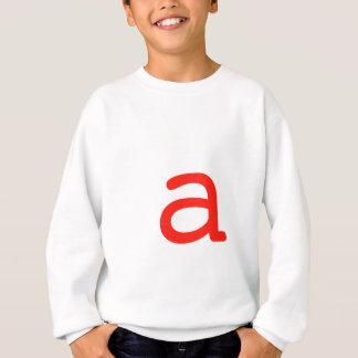 Letter a sweatshirt