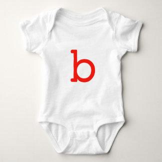 Letter b baby bodysuit