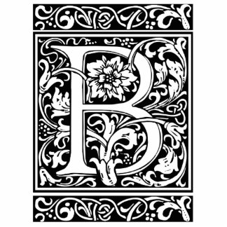 Letter B Medieval Monogram Vintage Initial Standing Photo Sculpture
