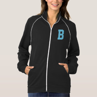 Letter B Monogram in Light Blue Ladies Jacket