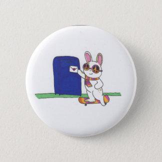 Letter Bunny 6 Cm Round Badge
