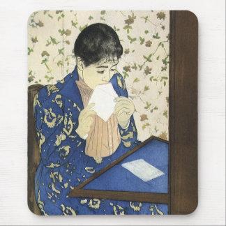 Letter by Mary Cassatt, Vintage Impressionism Art Mouse Pads