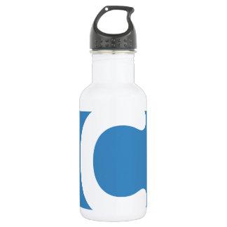 Letter C emoji Twitter 532 Ml Water Bottle