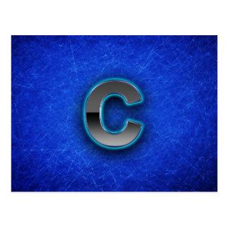 Letter C - neon blue edition Postcard