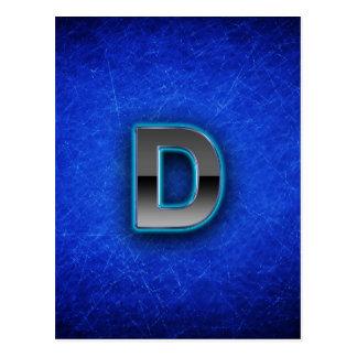 Letter D - neon blue edition Postcard