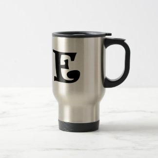 Letter E_large Travel Mug