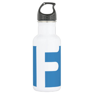 Letter F - emoji Twitter 532 Ml Water Bottle