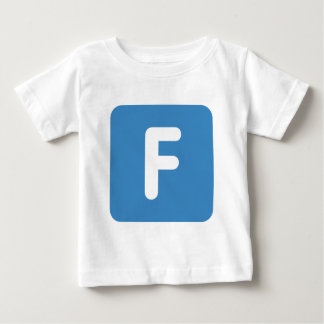 Letter F - emoji Twitter Baby T-Shirt