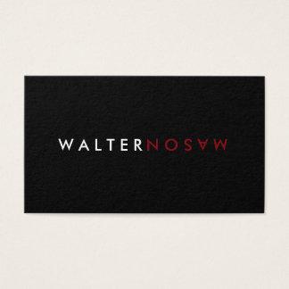 Letter Flip Business Card