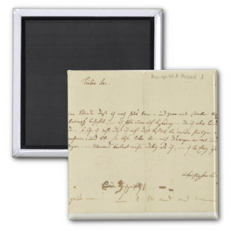 Letter from Mozart to a freemason, January 1786 Magnet