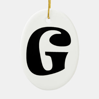 Letter G_large Christmas Ornament