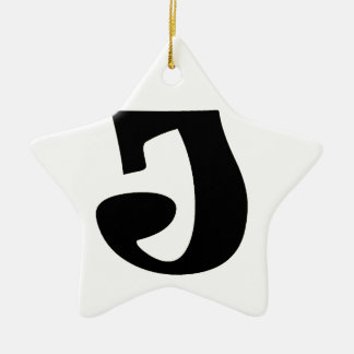 Letter J_large Christmas Ornament