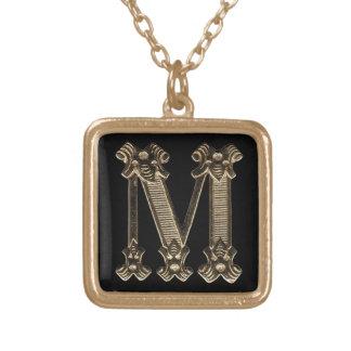 Letter M Square Necklace