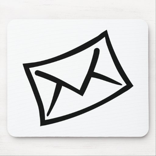 Letter mail envelope icon mousepad