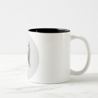 Letter N Two-Tone Coffee Mug