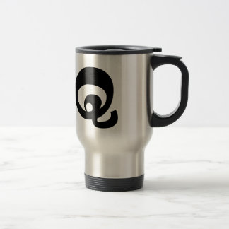 Letter Q_large Travel Mug