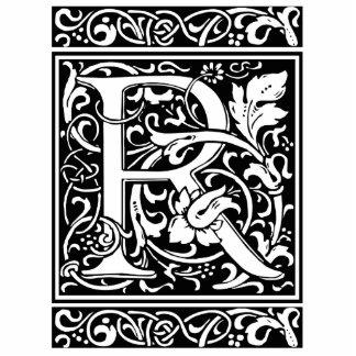 Letter R Medieval Monogram Vintage Initial Standing Photo Sculpture