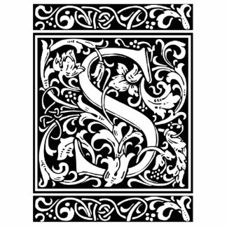 Letter S Medieval Monogram Vintage Initial Standing Photo Sculpture