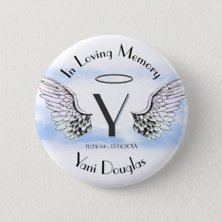 Letter Y | Add Name | Memorial 6 Cm Round Badge