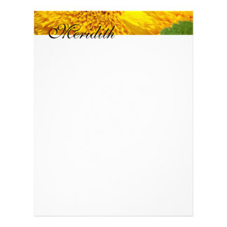 Letterhead Personalize Your Name Sunflowers Custom Flyer