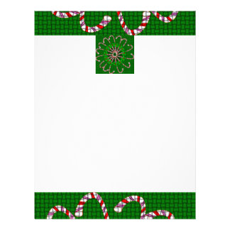Letterhead with Candy Cane Weave Design