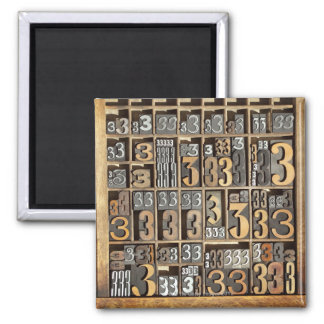 Letterpress 5 magnet
