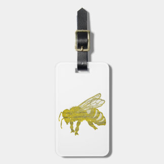 Letterpress Bee Luggage Tag