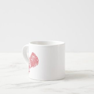 Letterpress Style Red Rooster Espresso Mugs