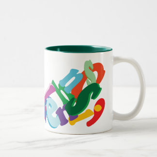 letters Two-Tone coffee mug