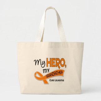 Leukemia MY HERO MY GRANDFATHER 42 Jumbo Tote Bag