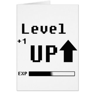 Level Up Gamer Geek Birthday Card