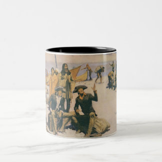 Lewis and Clark at the Columbia River Two-Tone Coffee Mug