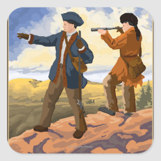 Lewis and Clark Exploring the West Square Sticker