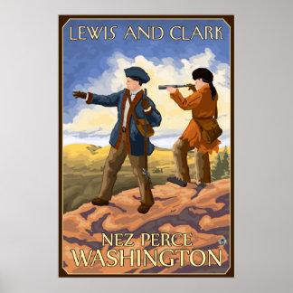Lewis and Clark - Nez Perce, Washington Poster