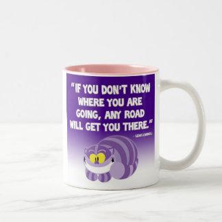 Lewis Carroll Quote Cheshire Cat Mug