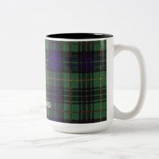 Lewis clan Plaid Scottish kilt tartan Two-Tone Coffee Mug