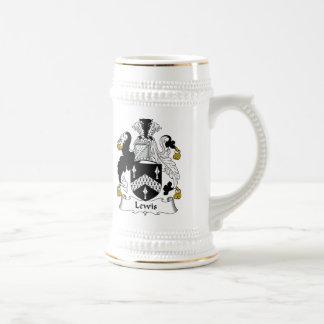 Lewis Family Crest Beer Stein