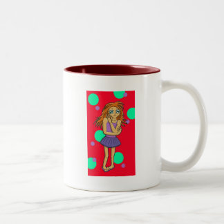 Lexie, Anime Art Gallery Character Two-Tone Coffee Mug
