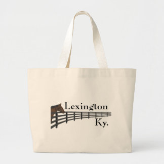 Lexington Kentucky Horse and Fence Large Tote Bag