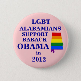 LGBT Alabamians for Obama 2012 6 Cm Round Badge