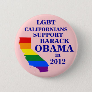 LGBT Californians for Obama 2012 6 Cm Round Badge