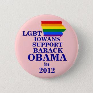 LGBT Iowans for Obama 2012 6 Cm Round Badge