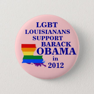 LGBT Louisianans for Obama 2012 6 Cm Round Badge