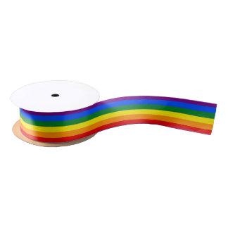 LGBT pride flag ribbon Satin Ribbon