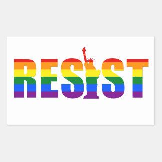 LGBT Rainbow Flag Resist Gay Pride Equal Rights Rectangular Sticker