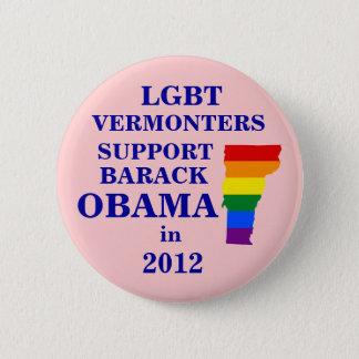 LGBT Vermonters for Obama 2012 6 Cm Round Badge