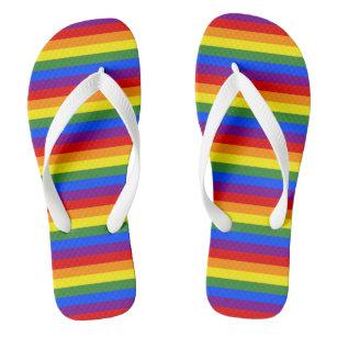 LGBTQ Pride Rainbow Stripe Pattern Jandals