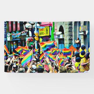 lgbtqia Rainbow Flags Parade Rally Banner